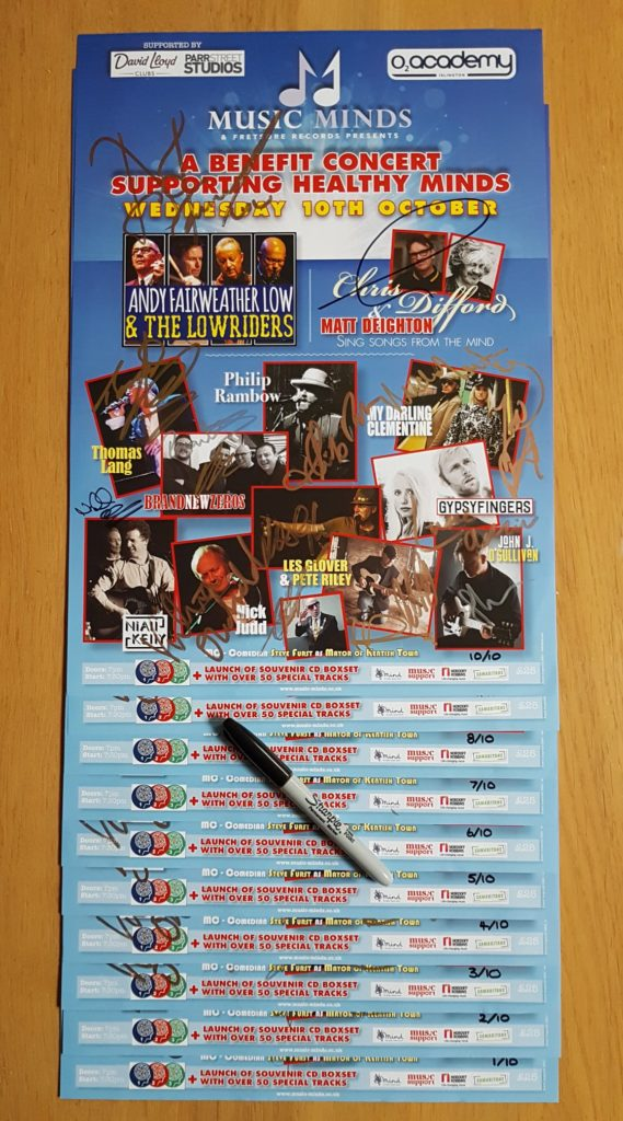 Very Limited Edition! Music Minds poster signed by every act…